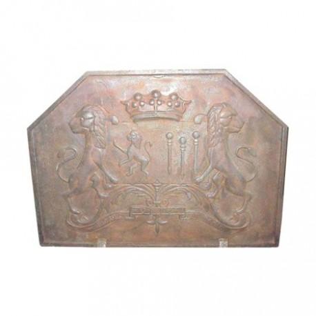 Plaque de cheminée décorative