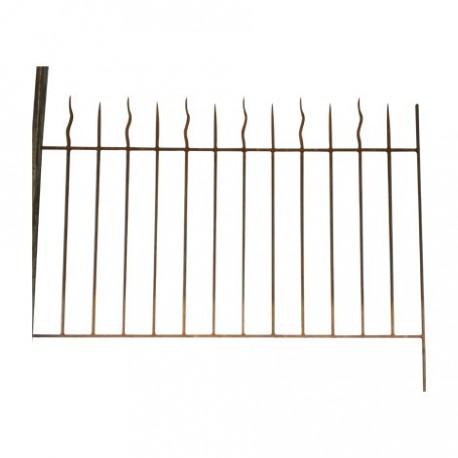 Grille de clôture en fer forgé - Les Jardins de Valcrisse