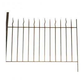 Grille de clôture en fer forgé