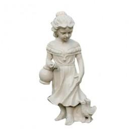 Statue fille en fonte