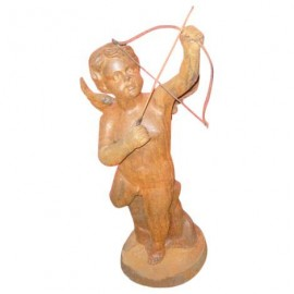 Statue d'enfant en fonte
