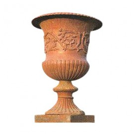 Grand vase en fonte