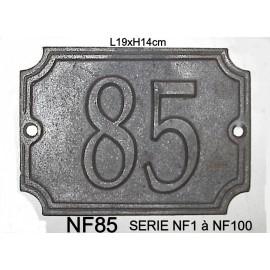 Numéro plaque en fonte