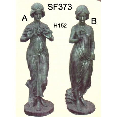 statue de femme en fonte les jardins de valcrisse. Black Bedroom Furniture Sets. Home Design Ideas