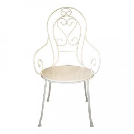 Chaise de jardin en fer forg les jardins de valcrisse for Chaises de jardin en fer
