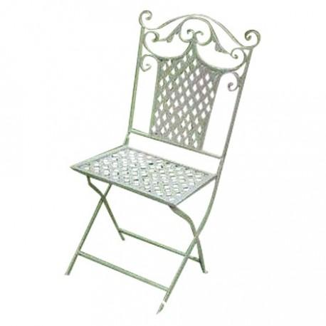 Chaise de jardin en fer forg les jardins de valcrisse for Chaise en fer forge