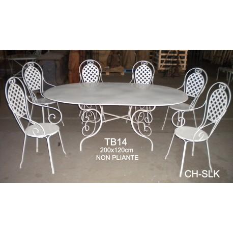 table ovale en fer forg les jardins de valcrisse. Black Bedroom Furniture Sets. Home Design Ideas