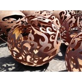 Boule acier décorative